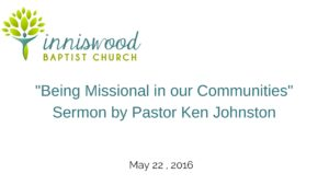 Being missional in our communities