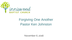 forgiving one another
