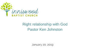 Right relationship with God