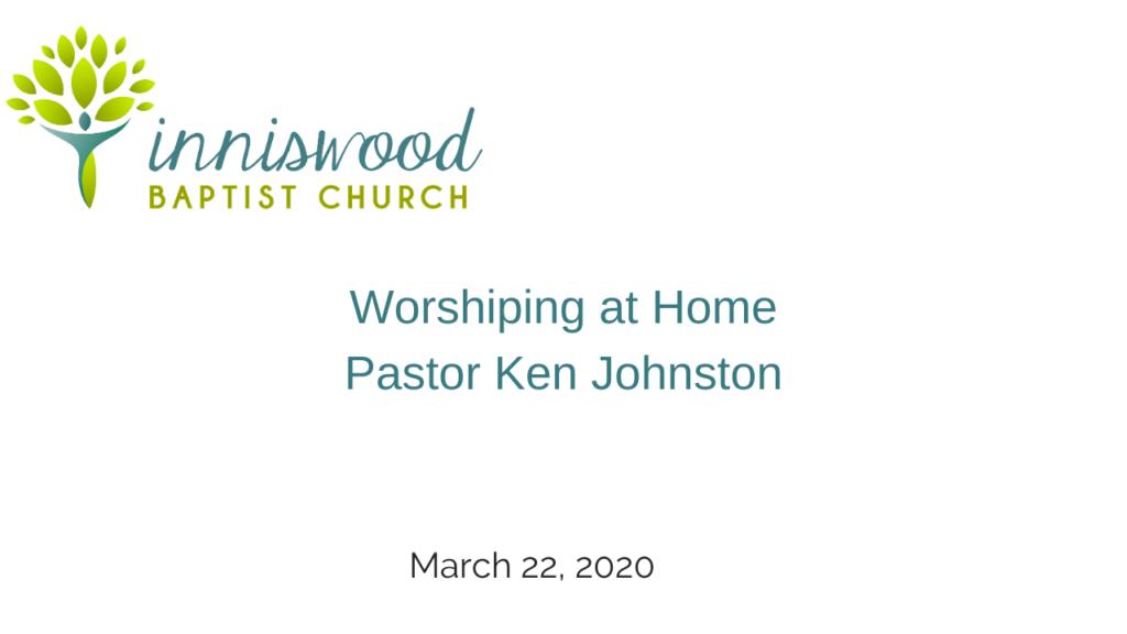 sermon March 22 2020